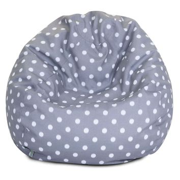 Gray Ikat Dot Small Classic Bean Bag