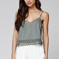 LA Hearts Inset And Hem Detail Top at PacSun.com