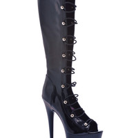 "Ellie Shoes Tyra 6"" Knee High Boot W-zipper Black Ten"