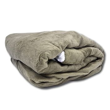 Tache Super Soft Evergreen Micro Fleece with Sherpa Throw Blanket