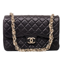 Chanel Black Lambskin Westminster Pearl Flap Bag