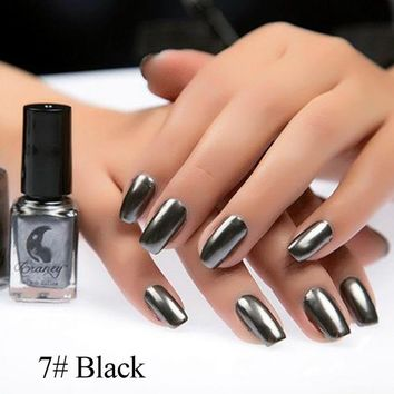Hottest Mirror Effect Nail Polish Metallic Lacquer Silver Nail Mirror Effect Metal Gold Nail Gel Polish Base Top Nails Art
