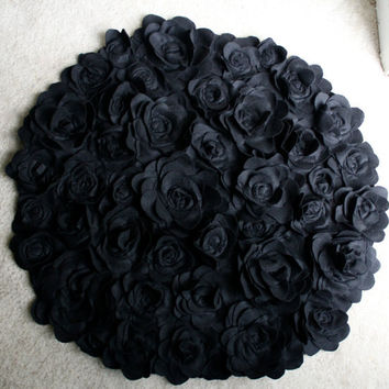 3 ft Round Rosette Rug  Photo Prop/ Baby Nursery/ Bathroom/Bedroom/Living Room Kitchen/Shabby Chic/Modern/Tea Party