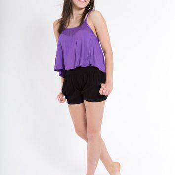 BUBBLE SHORTS, BLACK