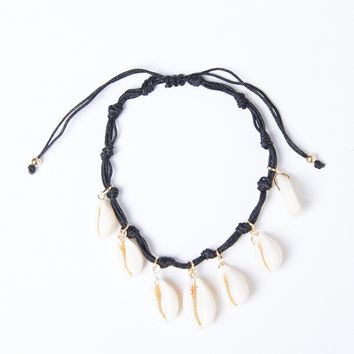 Knotted Shell Anklet