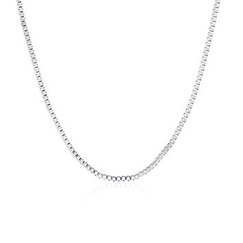 """TTVOVO 925 Sterling Silver 1MM/2MM Snake/Box/Twisted Rope/Link Chain - Italian Crafted Necklace - Super Thin & Strong - 16"""" - 24"""""""