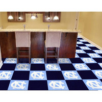 North Carolina Tar Heels NCAA Team Logo Carpet Tiles