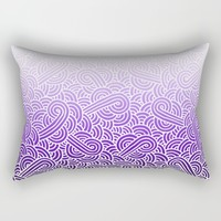 Ombre purple and white swirls zentangle Rectangular Pillow by Savousepate