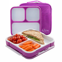 Blum Bento Lunch Box with Insulated Bag, Purple