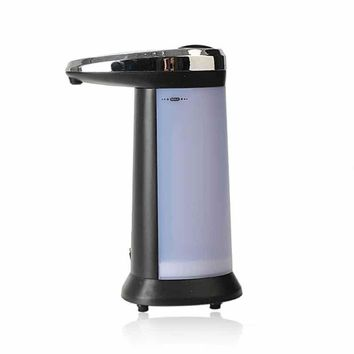400ML Touch Soap Dispenser Automatic Touch Free Sanitizer Lotion Dispenser Infrared Touchless Convenient for Kitchen Bathroom