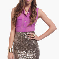 Sequin Pencil Skirt $40