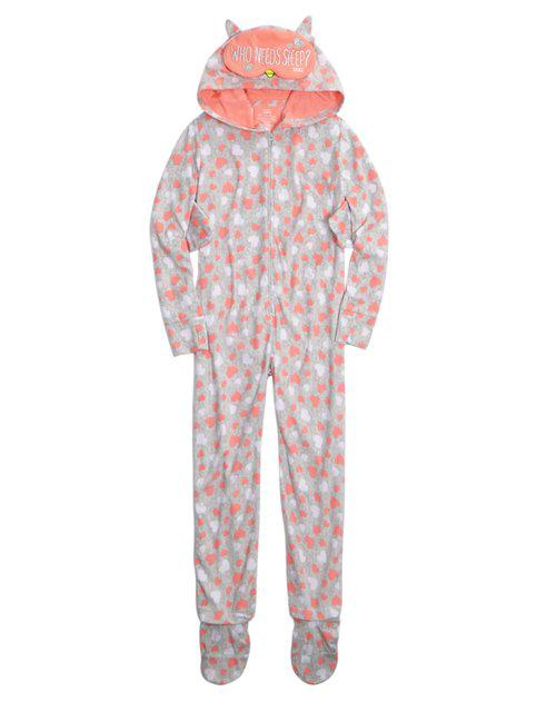 HOODED OWL Onesuit | GIRLS PAJAMAS SLEEP from Justice