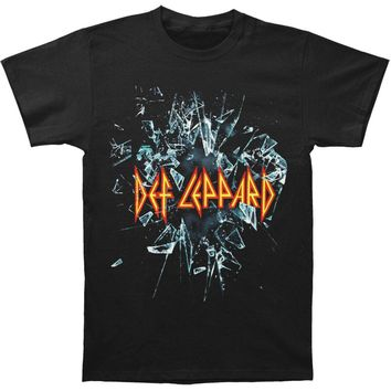 Def Leppard Men's  Smashed T-shirt Black Rockabilia