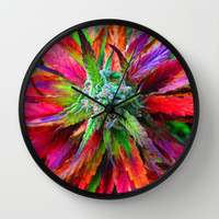 Super Dank weed 420 Wall Clock by Kushcoast