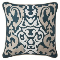 "Threshold™ Embroidered Velvet Toss Pillow (18x18"")"