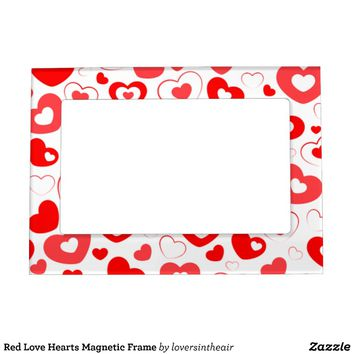 Red Love Hearts Magnetic Frame