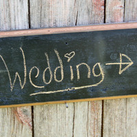 Barnwood Chalkboard Reusable Sign Blank Rustic Weddings Photography Prop Photobooth, Birth Announcement Tablet Note Pad