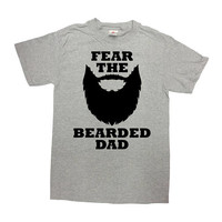 Funny Dad Shirt Beard Gifts For Daddy T Shirt Beard TShirt Fathers Day Present For Him Father Clothes Fear The Bearded Dad Mens Tee - SA813