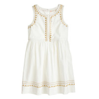 crewcuts Girls Tank Dress In Metallic Triangles