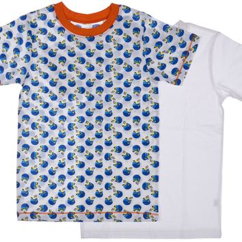2-Pack Football Stars 100% Cotton Fashion Printed T-Shirts