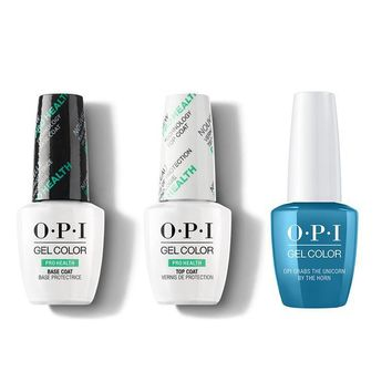 OPI - GelColor Combo - Base, Top & OPI Grabs The Unicorn By The Horn
