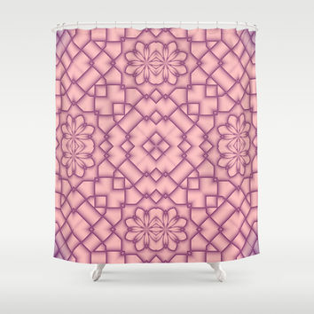 Pink Tracery Shower Curtain by Lena Photo Art