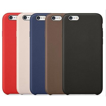 With LOGO Luxury Ultra-thin Leather Case Cover for iPhone 6 6S 6 Plus 6s Plus Case Back Cover Capa Fundas Coque for iphone 6s