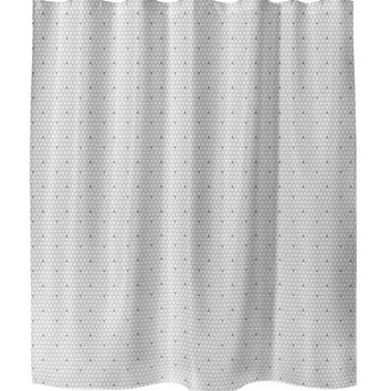 HONEYCOMB PURPLE Shower Curtain By Tiffany Wong