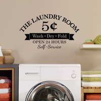 The Laundry Room 5 Cents Wall Decal - Medium