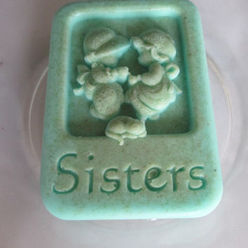 SISTERS  superb quality soaps  MOCHA, HERB Garden, Vanilla gift set, custom made in different colors and scents, vegan, natural ingredients