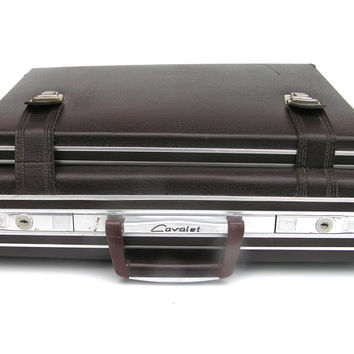 Vintage Cavalet briefcase suitcase dark brown from Sweden retro businessman for him bags mens Scandinavia