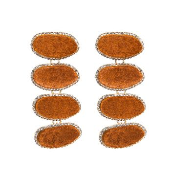 Sparkle Statement Earrings - Brown