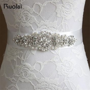 Crystal Flower Belts For Women 2016 Elastic Wide Wedding Party Women's Luxury Belts Cummerbunds Fashion Accessories FBT03