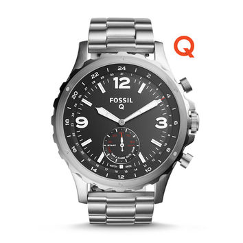 Fossil Q Nate Stainless Steel Hybrid Smartwatch - $195.00