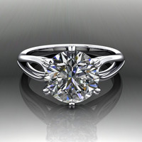 Forever Brilliant Moissanite Engagement Ring 2.50 CTW
