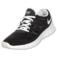 Nike Free Run+ 2 Women's Running Shoes| FinishLine.com | Black/White
