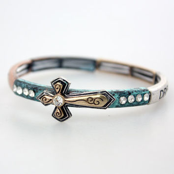 Elastic Cross Bracelet