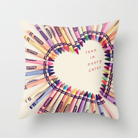 love in every color Throw Pillow by Shannonblue | Society6