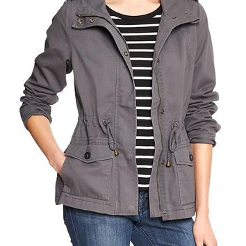 Gap Women Factory Hooded Utility Jacket