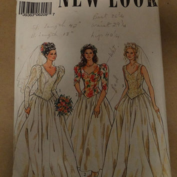 Vintage Simplicity Wedding Dress Pattern 6209, Size 8-18, New Look, Bridal Party Dress, Brides Maid Dress, Gown