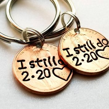 Custom I Still Do Lucky Penny Keychain, Anniversary Gift, Gift For Husband, Anniversary Gift For Wife, Gift for Her, Best Selling Item