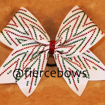 Christmas Wishes Rhinestone Cheer Bow