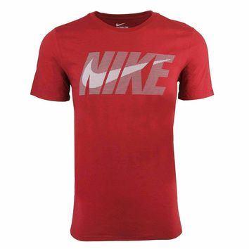 Nike Male Swoosh T-Shirt, Burgundy (Size S-2XL)
