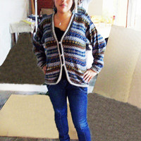 Peruvian Design Alpaca Wool Florence Cardigan for Women.