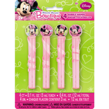 Minnie Mouse Bubbles and Wands [4 Per Pack]