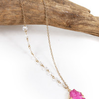 A Dollop of Druzy Necklace