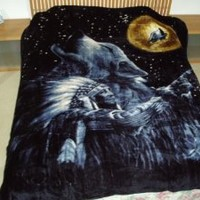 Wolf and the Chief, Mink Style Queen Size Soft & Warm Blanket