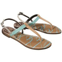 Women's Sam & Libby Kamila Thong Sandal with Back Strap - Turquoise/Brown
