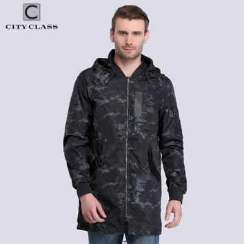 New Spring Windbreaker Men Jackets And Coats Removable Hood camouflage Fashion Waterproof Trench