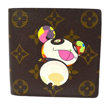 AUTHENTIC LOUIS VUITTON MONOGRAM PANDA TAKASHI MURAKAMI WALLET M61666 AK20846